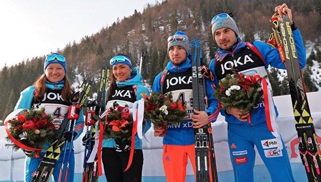 Антон Шипулин завоевал бронзу всмешанной эстафете начемпионате мира