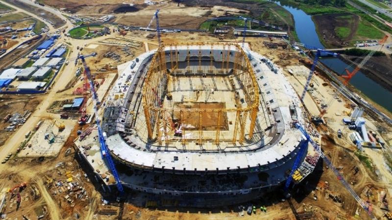 Настадионе «Мордовия Арена» закончился монтаж железобетонного каркаса