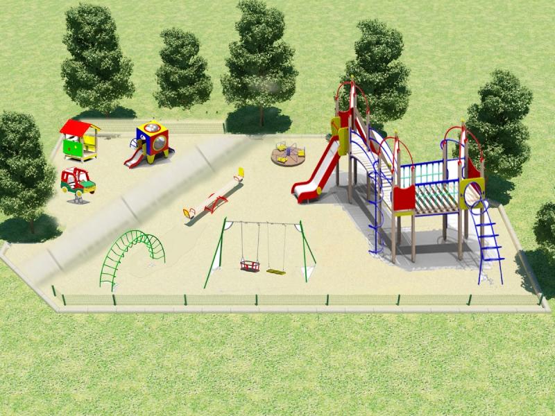 Установка детских площадок во дворах